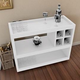 Aparador Bar Com Rodizios 4050 Cor Branco