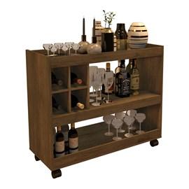 Aparador Bar Com Rodizios 4050 Cor Canela