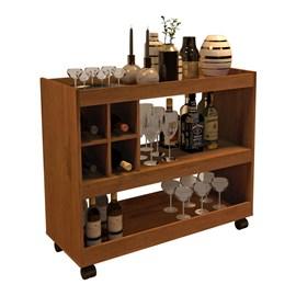 Aparador Bar Com Rodizios 4050 Cor Caramelo