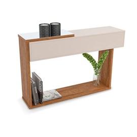Aparador P/ Sala Milao Designer Moderno Cor OffWhite/Amendoa