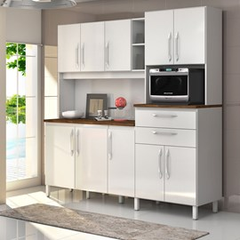 Armario Cozinha 10 Portas e 2 Gavetas Rubi