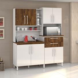 Armario Cozinha 8 Portas e 2 Gavetas Rubi