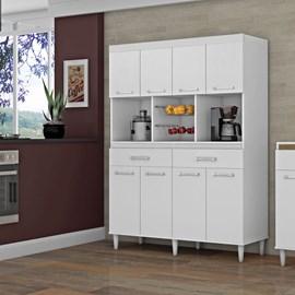 Armario Cozinha 8 Portas Leticia Flexcolor Branco/Jacaranda