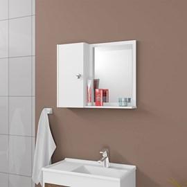 Armario Espelheira Genova Com Porta Cor Branco