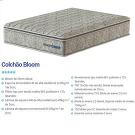 Colchao Mola Probel Bloom Casal 138cm com Pillow-Top D35