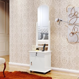 Comoda Armario Espelheira Gaveta e Espelho 7000 Cor Branco