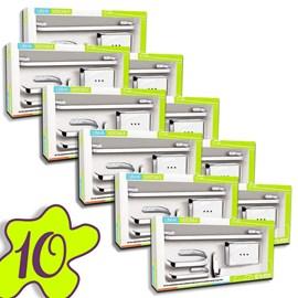Conjunto 10 Kits Acessorio Banheiro 5 Peças Metal Cr Atacado