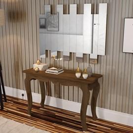Conjunto Aparador Retro Com Painel De Espelhos Canela