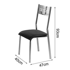 Conjunto Com 4 Cadeiras Titanium Turim Aço