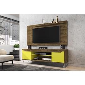 Conjunto Rack Com Painel Para TV Sala Com Pes de Aço Chanel