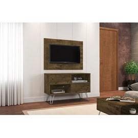 Conjunto Rack Com Painel Para TV Sala Com Pes de Aço Fendi