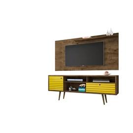 Conjunto Rack Com Painel Para TV Sala Esmeralda II