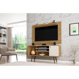 Conjunto Rack Safira Com Painel Para TV Sala Kenzo