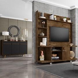 Conjunto Sala Home Taurus TV 47 Pol. Buffet Quartzo