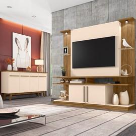 Conjunto Sala Home York Led TV 55 Pol. Buffet Opala