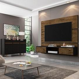 Conjunto Sala Painel Ambar TV 65 Pol. Buffet Quartzo