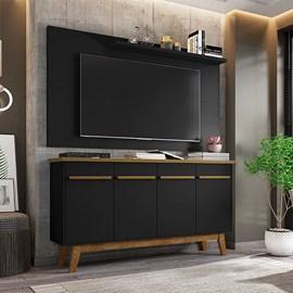 Conjunto Sala Painel Chanel TV 50 Pol. Buffet Opala