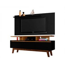 Conjunto Sala TV Rack 3 Portas Painel 55 Pol. Ap. Opala