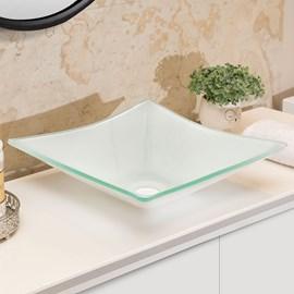 Cuba Pia de Vidro Sulle para Banheiro Quadrada Cor