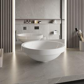 Cuba Pia para Banheiro Redonda Branca