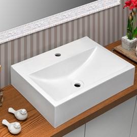 Cuba Pia para Banheiro Retangular Inspira Branca