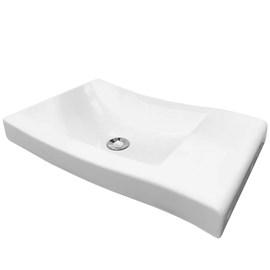 Cuba Pia para Banheiro Retangular Viena Branca