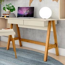 Escrivaninha Mesa Computador Cavalete 2 Gavetas