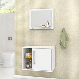 Gabinete Armario Banheiro c/ Espelho Sem Cuba Cor Branco
