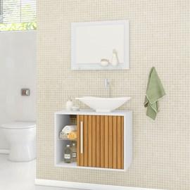 Gabinete Armario Banheiro Completo Baden Com Torneira