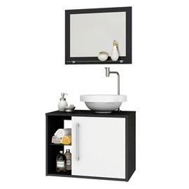 Gabinete Armario Banheiro Lua Cor Preto e Branco