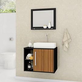 Gabinete Armário Banheiro Nilo Com Pia