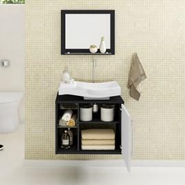 Gabinete Armário para Banheiro com Pia Wave