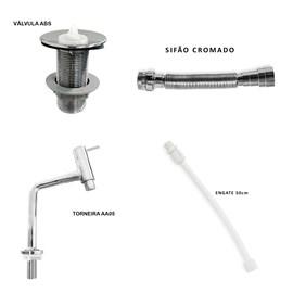Kit de Torneira AA05, Sifao, Engate 50 cm e Valvula ABS