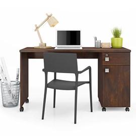 Mesa Escrivaninha Computador Malta Gaveta Com Chave Noce