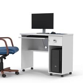 Mesa Escrivaninha Computador Vicenza Com Gaveta Branco