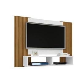 Painel para TV até 48 Pol. Navi Sala Branco/efeito Ripa