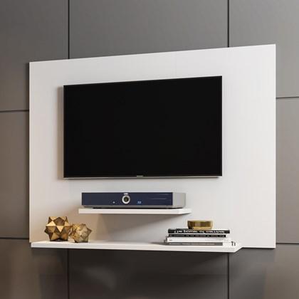 Painel Sala Para TV Até 42 pol Davi Com Prateleiras Branco