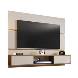 Painel TV Ambar Sala 65 Polegadas  Off White/Cinamomo