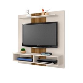 Painel TV até 47 Polegadas Gama Sala OffWhite efeito de Ripa
