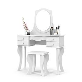Penteadeira Espelho 4 Gavetas Princesa