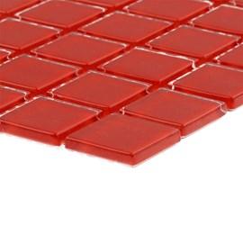 Placa Pastilha Vidro Parede 30cm X 30cm Vermelho