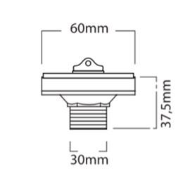 Válvula Lavatório Ajustável 7/8 Metal Cor Preto