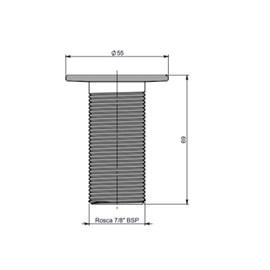 Válvula Lavatório Lavabo Convencional 7/8 Metal Cor Cromado